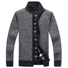 2018 New Men's Cardigans Plus Size Sweaters Autumn Winter Warm Zipper Sweaters Male Jacket Casual Knitted Sweater Clothing