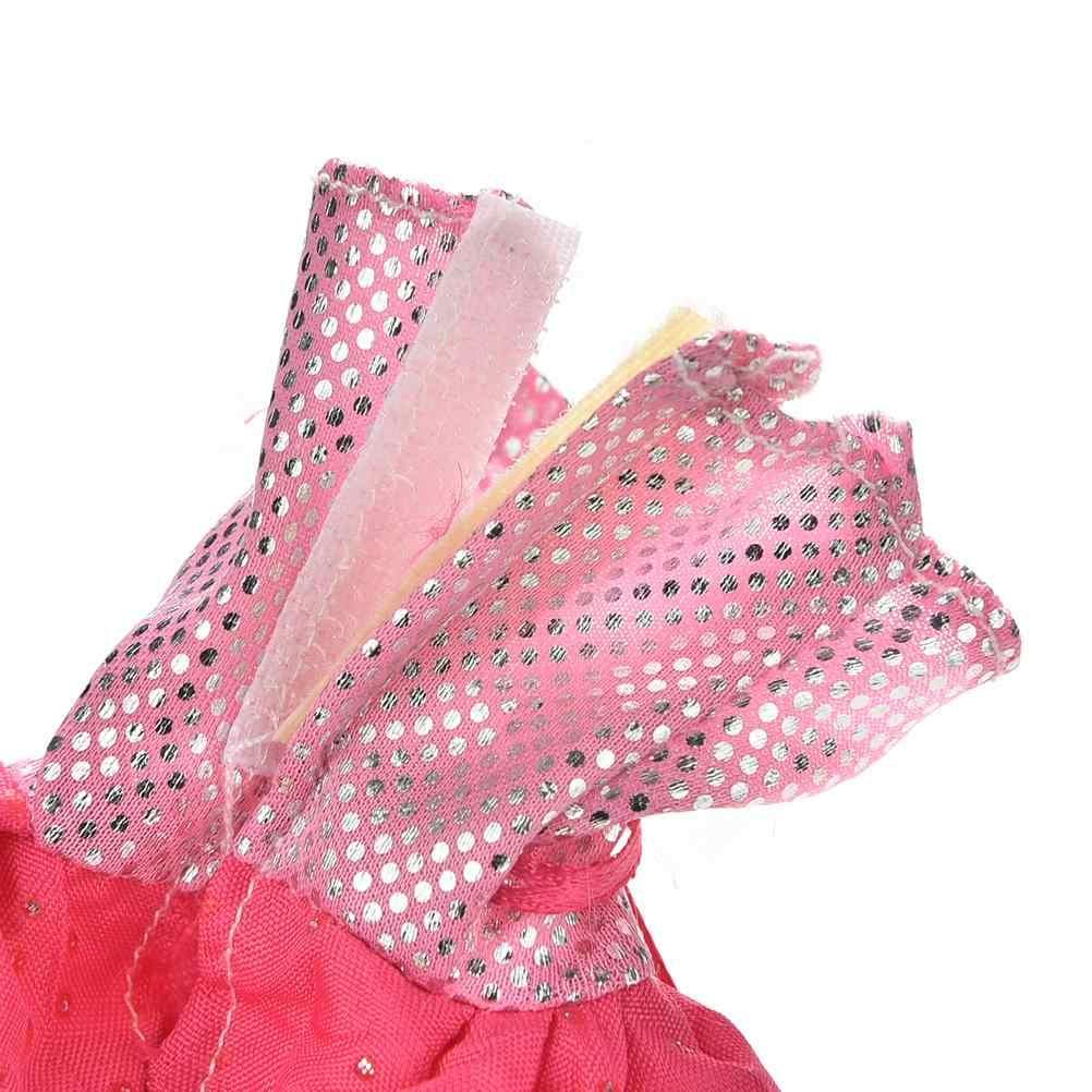 """2 adet 2016 yeni moda yelek gül elbise için 11 """"için bebek kürk yelek elbise"""