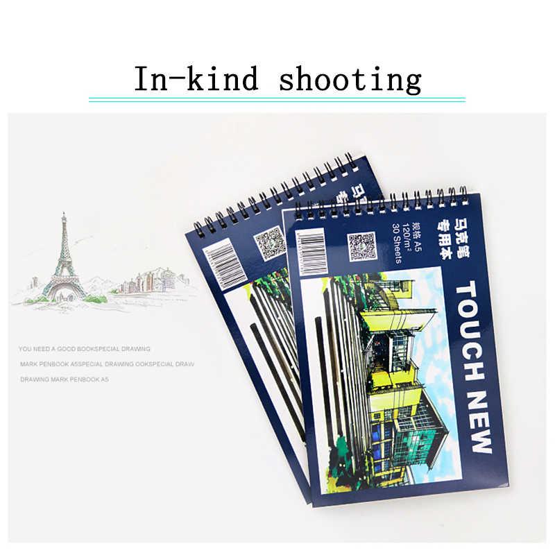 TOUCHNEW A5 libro papelería bloc de dibujo libro de dibujo y pintura creativa cuaderno regalo marcador de papel especial