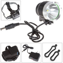 Waterproof 3-Modes 500LM LB-XL T6 LED  Bicycle Light Headlamp + 2800mAh Rechargeable Battery Pack & Charger