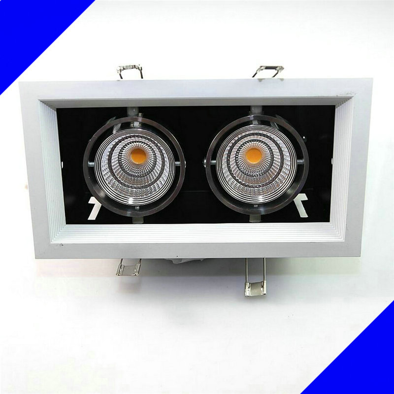 Free Shipping Dimmable 24W Square Double Warm White Cold White 2x12W COB LED downlight, LED Ceiling Lamp Indoor Light Lamp free shipping dimmable 48w 600x600mm led panel light high brightness led chips warm white natural white cold white available