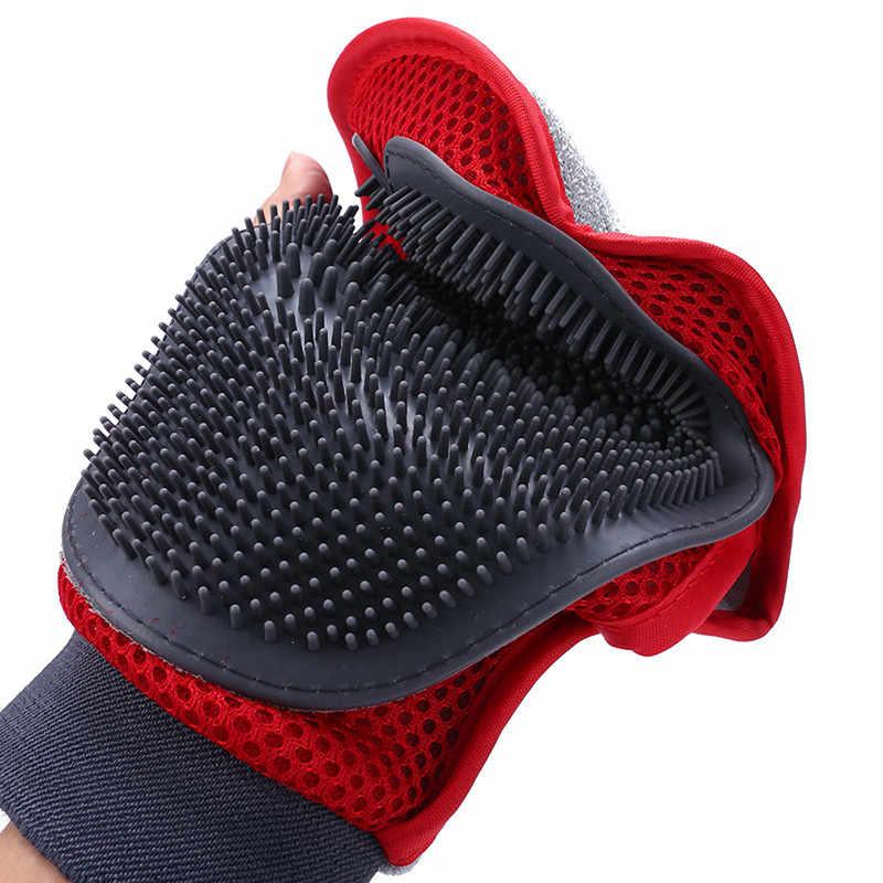 Ультразвуковая щетка для домашних питомцев, кошек, ТРП, сетка, щетка для домашних животных для собак, массажная перчатка, двухсторонняя щетка для чистки меха, массажная рукавица для душа, гребень для ухода за шерстью