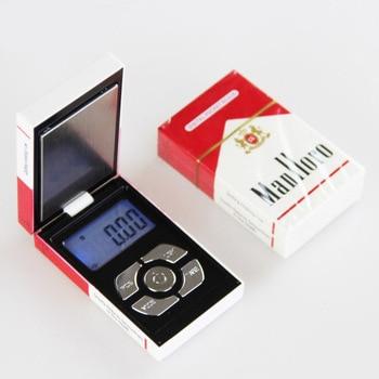 500gx0.1g Mini Pocket Electronic Digital Scale Jewelry Diamond Scale Gold Cigarette Box Design Weigh Balance