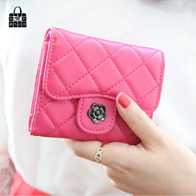 RoseDiary Fashion Women 3 folding Wallets  PU Leather short Wallet hasp Day Clutch Purse Wristlet Handbags Coin Purse 7 Color 2017 hot sale women wallets dull polish wallet double day clutch purse wristlet portefeuille handbags m0027