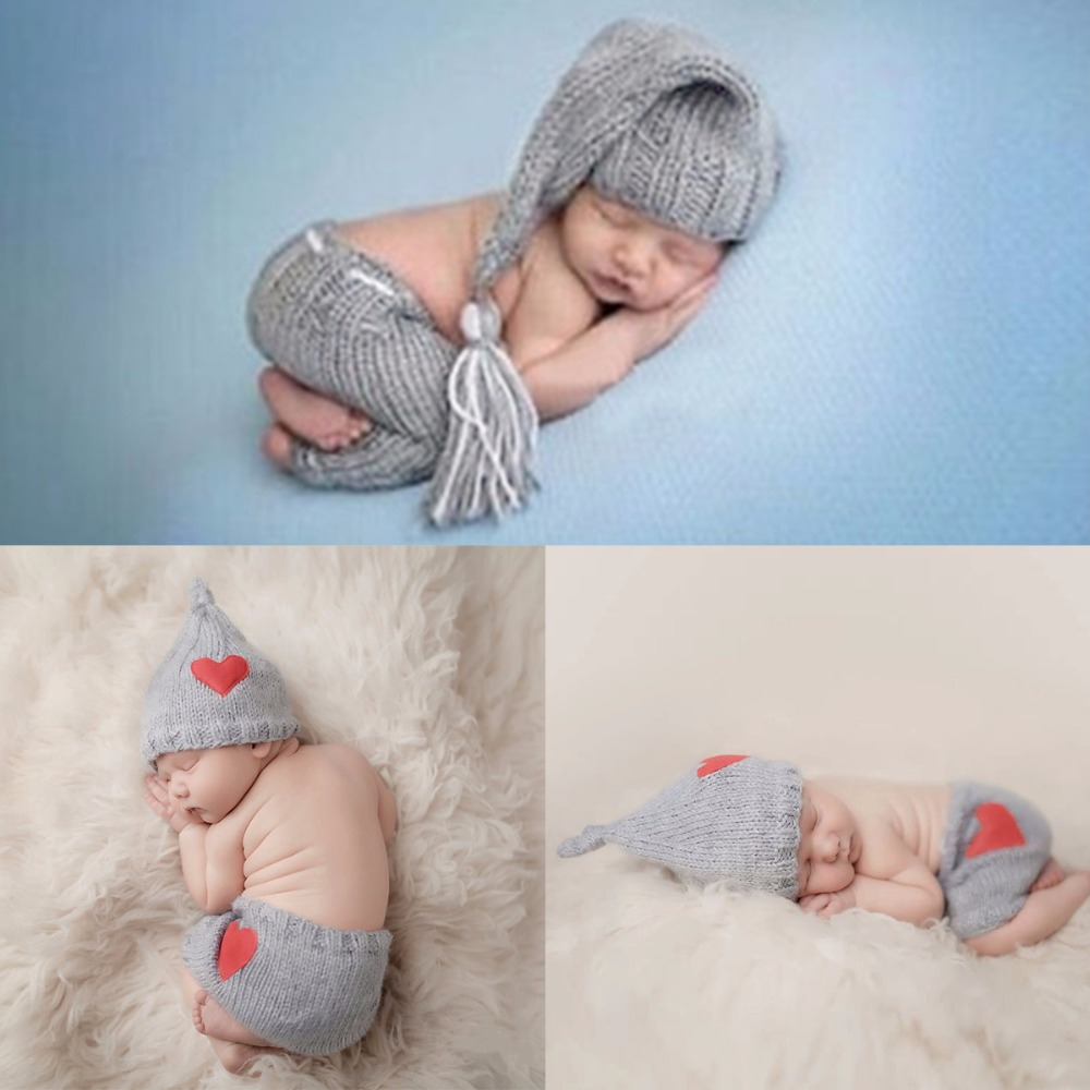 0-6M Newborn Baby Cute Crochet Knit Costume Prop Outfits Photo Photography Baby Hat Photo Props New born baby girls Cute Outfits цена