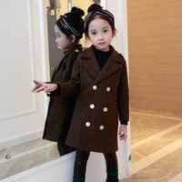 Плащи для девочек модная детская ветровка зимняя куртка для девочек подростков От 4 до 14 лет верхняя одежда, куртки детская одежда парка пал...
