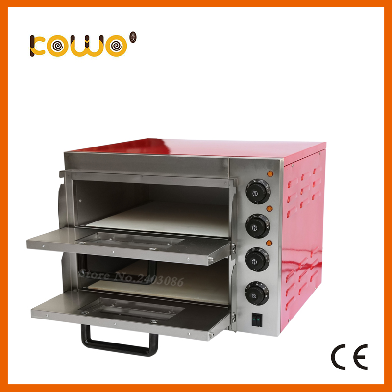 commercial catering equipment double layer temperature control electirc bread Pizza baking Oven for sale
