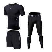 2017 Sport Underwear Men Quick Dry Striped Basketball Sport Suit Compression Running Set Gym Fitness Training