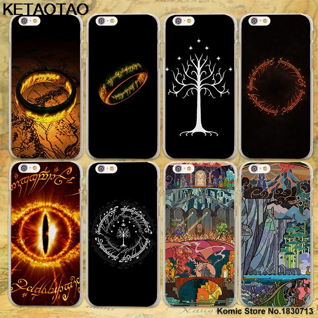 KETAOTAO The Lord of The Rings the one ring Phone Cases for iPhone 4 5C 5S 6S 7 8 Plus X Case Crystal Clear Soft TPU Cover Cases