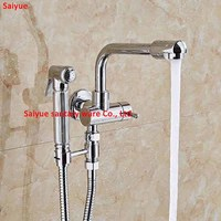 New 720degree rotate Laundry Bathroom Wetroom Wall Mount Sink Basin Faucet Spigot Bibcocks Mop Pool Single Cold Tap with Bidet
