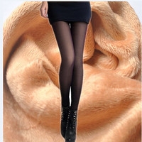 Fashion Women S Tights Beauty Skinny Bas Sexy Stocking Velvet Cute Women S Knee High Leg