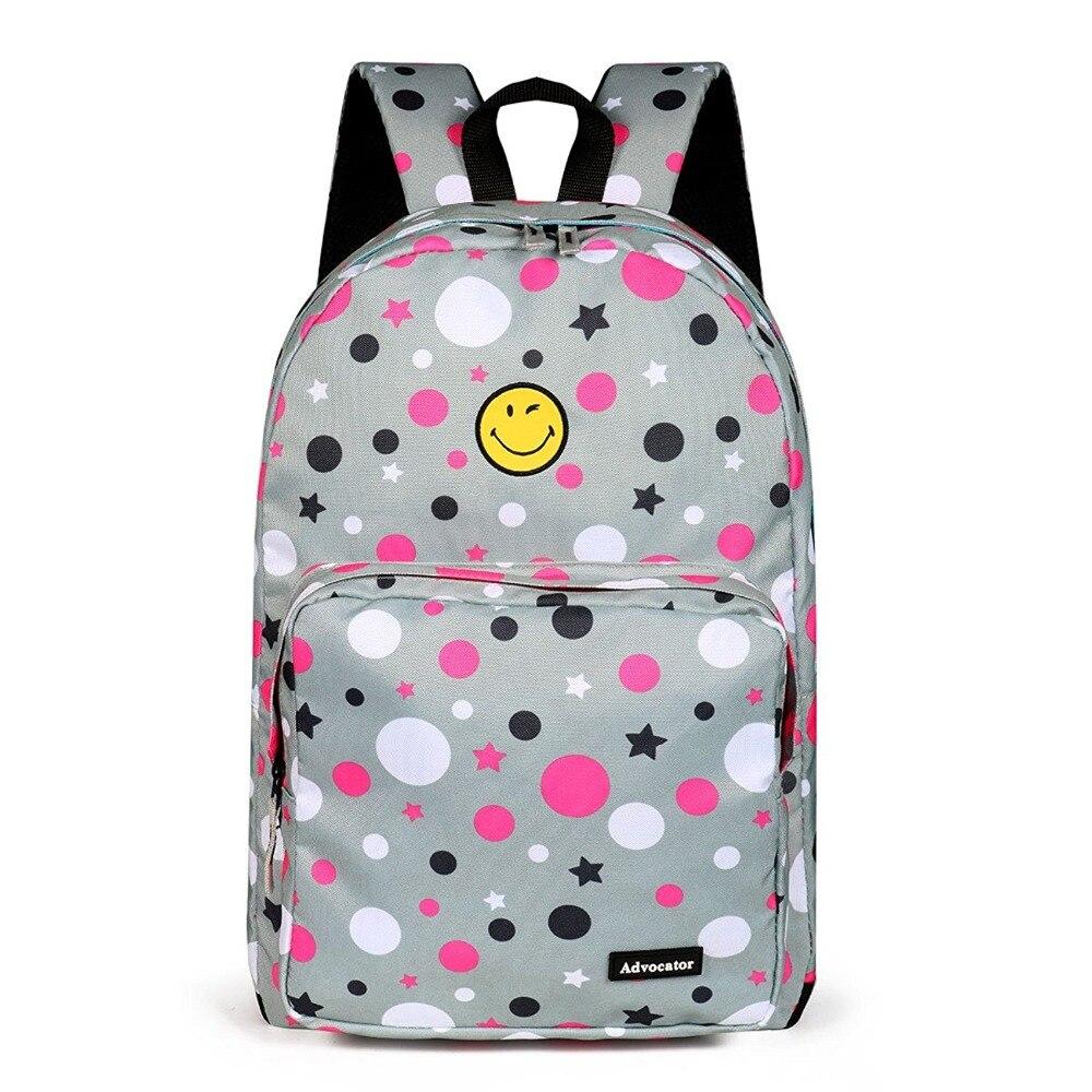 Advocator Student School Bag for Girl Cute Smile Face Junior Bookbag Nylon Stylish Women Rucksack Teens Backpack Mochila Escolar ...