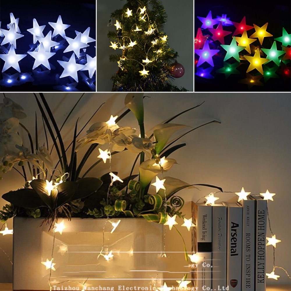 Wholesale 2m 20led Copper Wire Star Curtain String Lights Led Fairy Christmas Tree In Addition Wiring Aeproduct