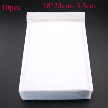 10pcs (18 * 23cm + 3.5cm) White Envelope Paper Bubble Mail Bag Bubble Postage Shipping Bags 1