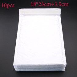 10pcs (18 * 23cm + 3.5cm) White Envelope Paper Bubble Mail Bag Bubble Postage Shipping Bags