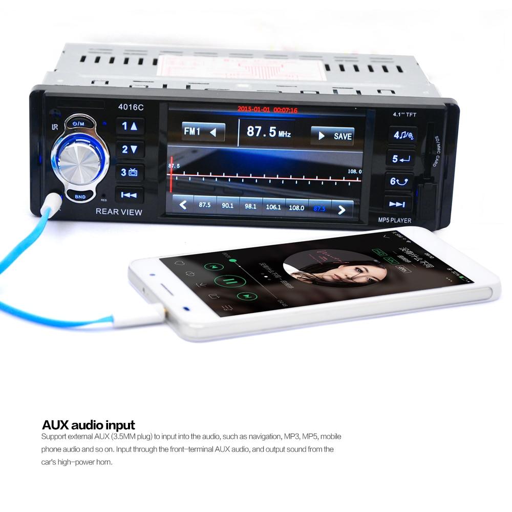Radio samochodowe BYNCG 4016C Gorąca sprzedaż 1 Din Car MP5 Player - Elektronika Samochodowa - Zdjęcie 5