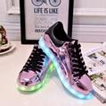 Из светодиодов женской обуви 8 цветов 2016 новый из светодиодов световой обувь женская мода загораются корзины из светодиодов Chaussure Lumineuse 4d04