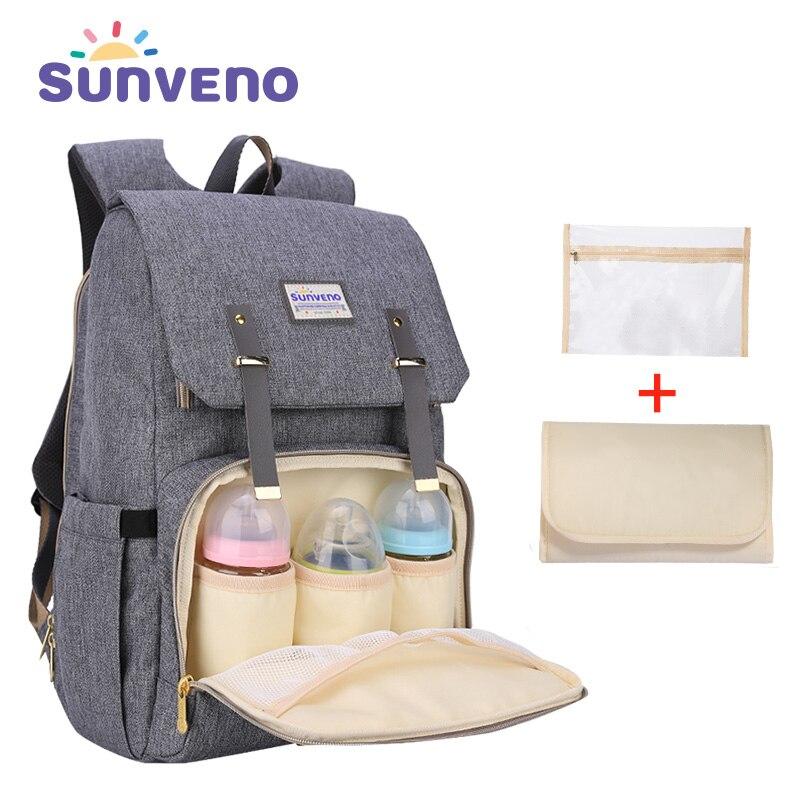 SUNVENO nouvelle mode sac à dos pour couches Grande Capacité sac pour bébé sac à langer pour Bébé Soins