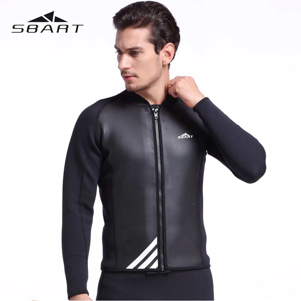 цена на SBART Swimwear Men Diving Rash Guard 2MM Neoprene Wetsuit Snorkeling Wetsuit Windsurfing Kite Surfing Jacket Diving Equipment