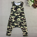 2017 New Baby Boys Girls Harem Rompers Boy Girl Summer Drop Crotch Jumpsuit Kids Fashion Leopard Camouflage Playsuits 1-6Yrs 38D