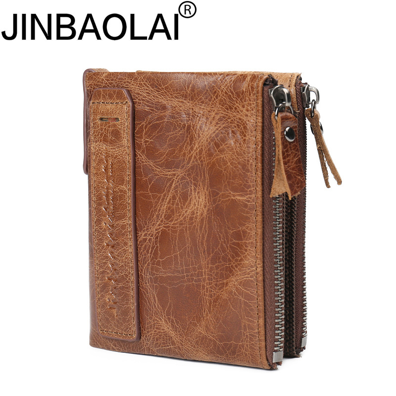 Money Bag For Men Genuine Leather Wallet Male Coin Purse Business Card Holder Portomonee Walet Vallet Kashelek Cuzdan Partmone