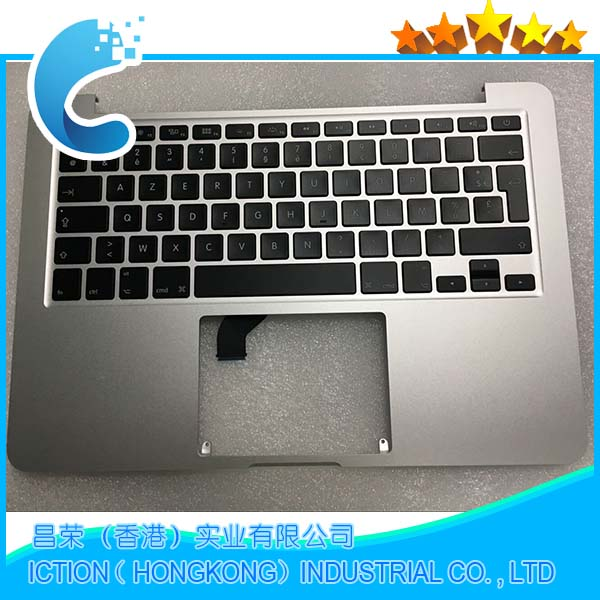 Original New A1502 Topcase For MacBook Retina Pro 13.3 A1502 Top Case Topcase French FR Keyboard with Backlight 2015 Year original new topcase 11 6 for macbook air a1370 a1465 palmrest top case with us keyboard backlight no touchpad 2013 2015