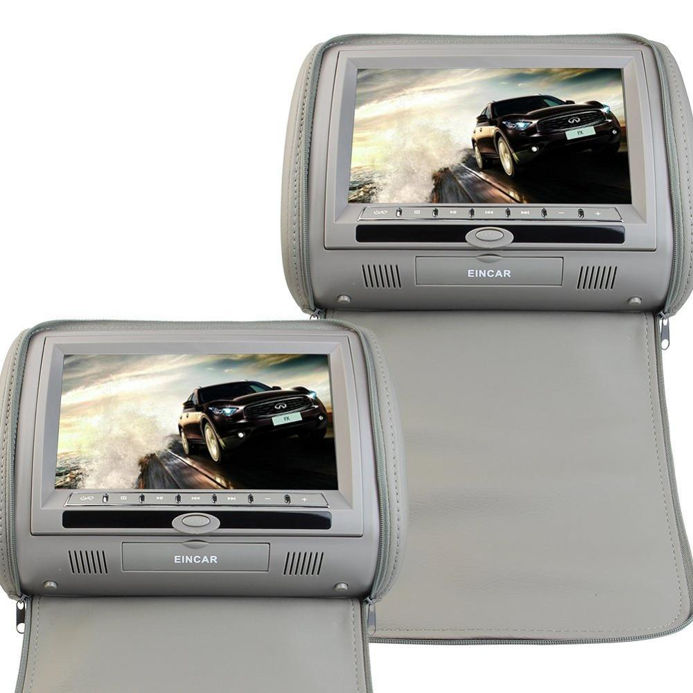 Car Headrest DVD Player with HD Digital Screen 9 inch Headrest CD DVD Player With Zipper Cover Games with Remote control стоимость