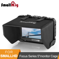 SmallRig Monitor Cage with Sunhood for SmallHD Focus Series 5monitor Protective Cage + Sun Shield Hood Kit 2249