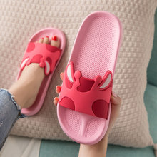 Slippers Women Summer Home Female Shoes Soft Bottom Bathroom Non-slip Woman Sandals Slippers Cute Cartoon Cow Indoor Shoes Girl women summer non slip bathroom slippers female indoor home soft bottom slippers unisex lovers couples slipper gifts