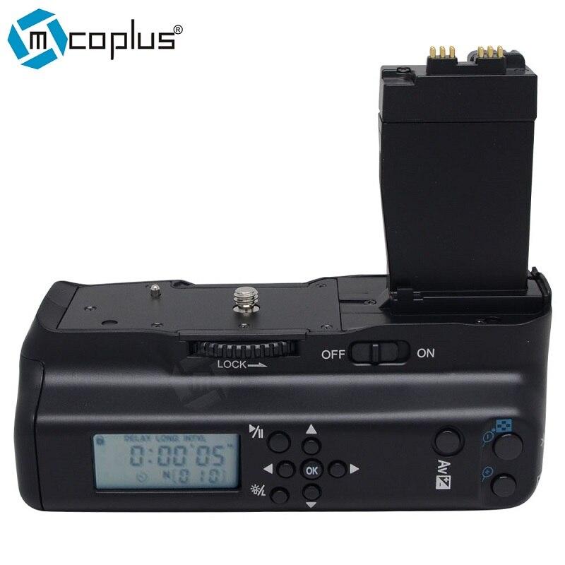 Mcoplus BG-550DL LCD minuterie poignée de batterie verticale pour Canon EOS 550D 600D 650D 700D/rebelle T2i T3i T4i T5i SLR appareil photo numérique
