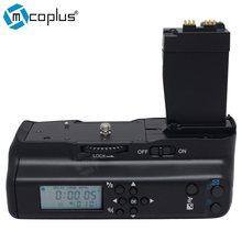 Mcoplus BG-550DL aderência vertical da bateria, temporizador lcd para canon eos 550d 600d 650d 700d/rebel t2i t3i t4i t5i câmera digital slr