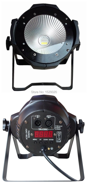 2pcs/LOT 100w COB LED PAR DMX 512 control RGBW 100W led COB par dmx stage light