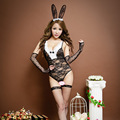 Women Sexy Bunny Costumes Cosplay Sexy underwear Lace Clairvoyant Outfit Rabbit Long Ear Uniforms Lingerie