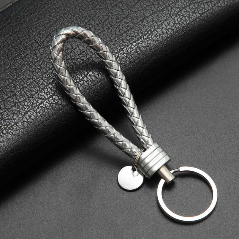 LLavero de cuero de moda para coche llavero para hombres y mujeres para Mercedes-Benz Audi VW POLO Golf Toyota kia OPEL