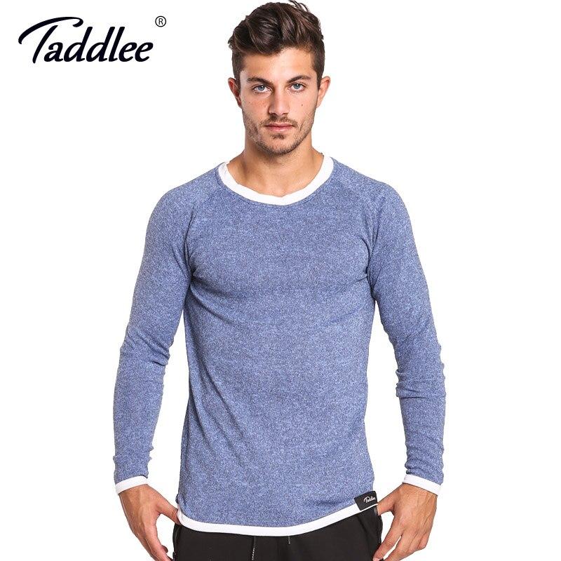 26afe1a6f Taddlee Brand Long Sleeve T Shirt Men Solid Color Soft O Neck ...