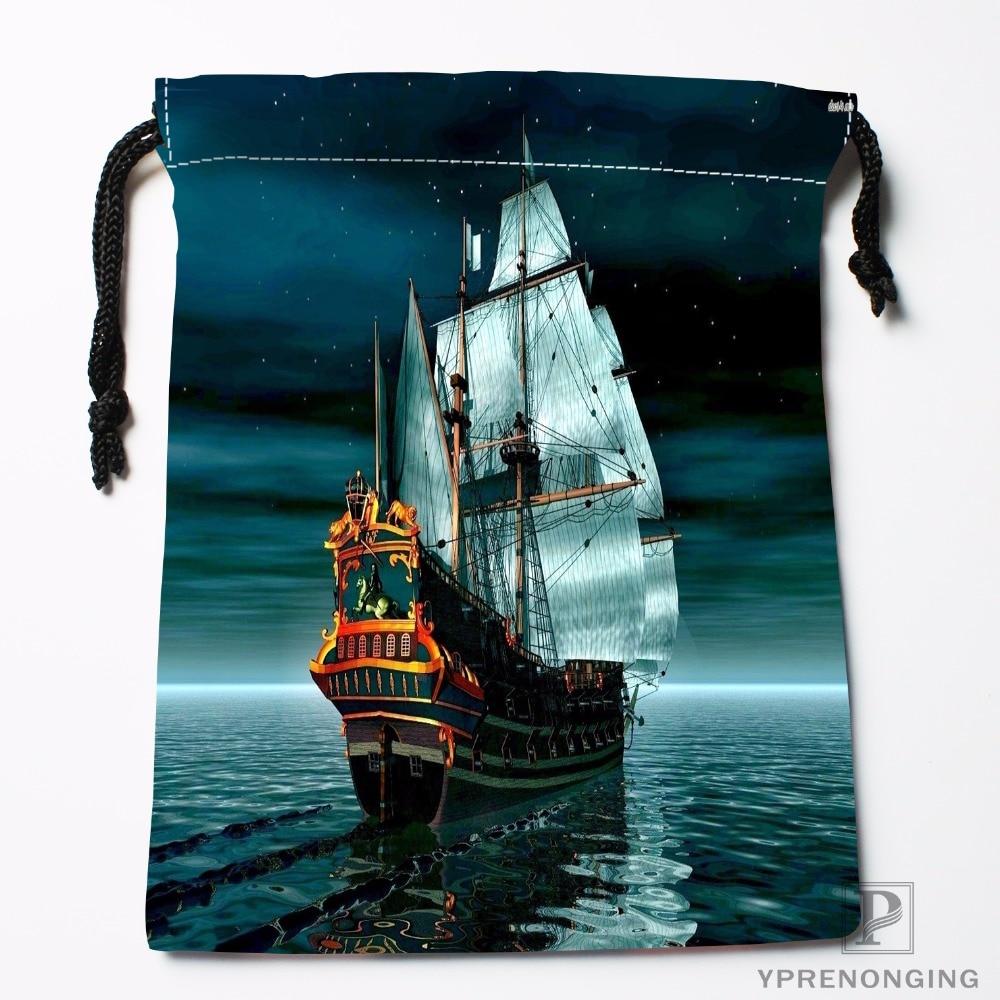 Custom Viking Ships Drawstring Bags Travel Storage Mini Pouch Swim Hiking Toy Bag Size 18x22cm#0412-11-108