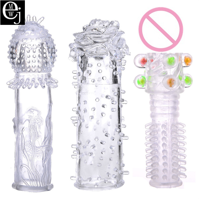 Buy 3 Style Penis Ring Can Choose Cock Ring Penis Sleeve Sex Toys Men Extender Condoms Penis Reusable Delay Condom