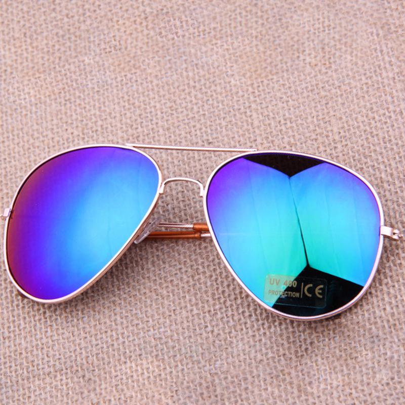 Men Women Coating Sunglasses Driving Mirror  Metal Cycling Eyewear Bat Mirror UV Protection Multi Color #19