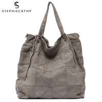 SC Vintage Leather Women Big Tote Bags Real Leather Messenger Shoulder Bags Female Large Quilted Woman Bag Genuine Leather