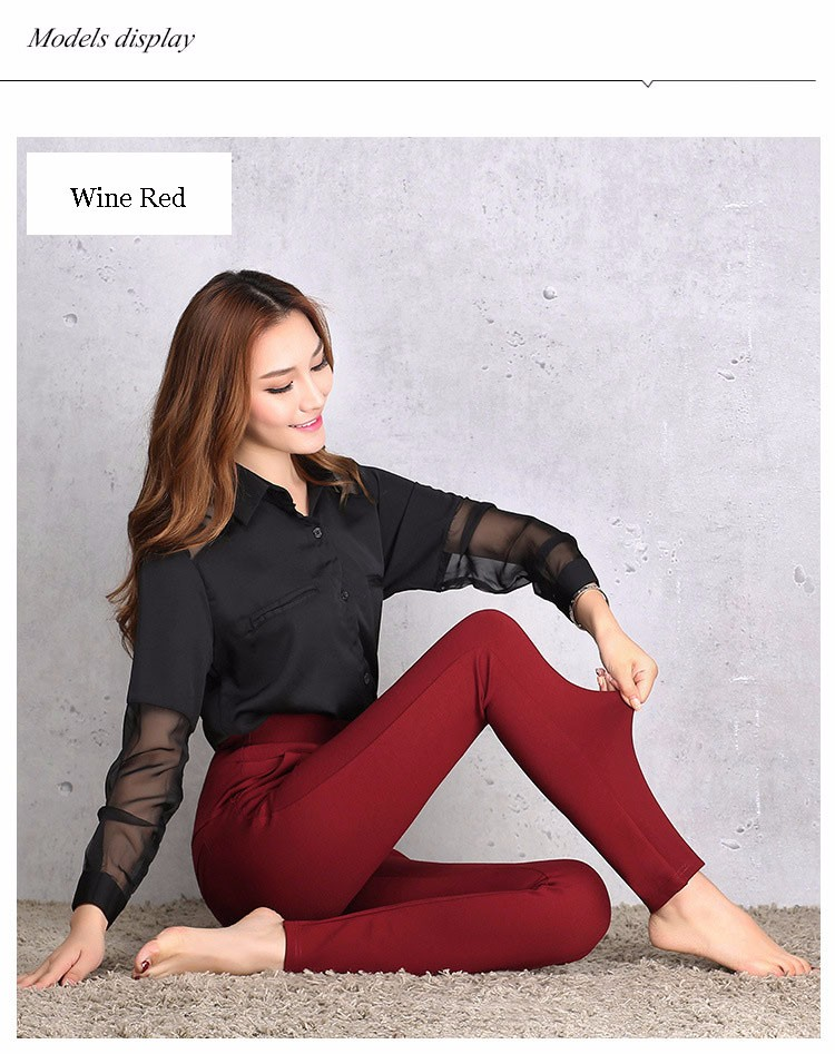 2016 New Autumn Winter Women Casual Stretch Leggings Pencil Sport Pants Skinny Leggings Women\'s Clothing Trousers Plus Size A661 b