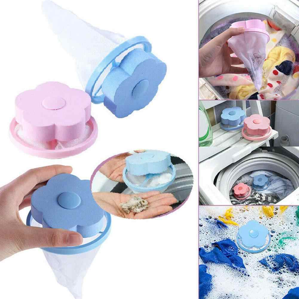 Round/Flower Shape Washing Machine Hair Removal Laundry Ball Floating Filter Bag