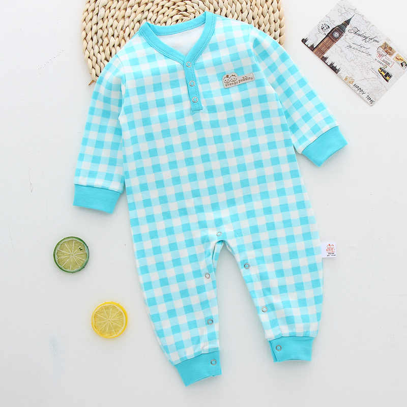 Autumn Spring Cotton Newborn Baby Boy Girl Romper Clothes Long Sleeve Infant Children Clothing Jumpsuits Kid Sleepwear Pajamas
