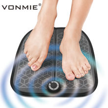 Купить с кэшбэком VONMIE EMS Foot Massager ABS Physiotherapy Revitalizing Pedicure Tens Foot Vibrator Wireless Muscle Stimulator USB Rechargeable