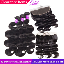 Celie Hair Brazilian Body Wave Lace Frontal With Bundles Remy Human Hair Bundles With Closure 3 Bundles With Frontal(China)