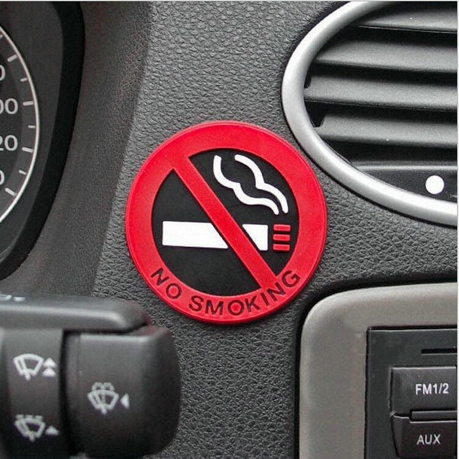 3pcs New Hot Selling Car Styling No Smoking Logo Stickers Warning Car Stickers Wall Decoration Door Decals Free Shipping