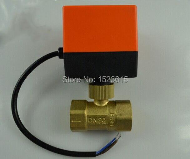 Versandkostenfrei 220 Vac Dn20 3/4 Elektrischer Antrieb Ventil Ventil Erkältung& Heißwasser/wasserdampf/wärme Gas 2-wege-messing Motorkugelhahn Heimwerker