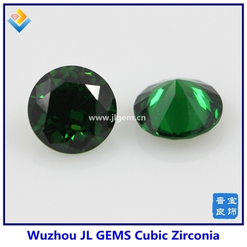 (100pieces/lot)High Quality 6mm Free Shipping Synthetic AAAAA Round Green CZ Cubic Zirconia Stone Loose CZ Stone Synthetic Gems