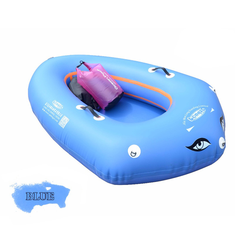 Gonflable Bateau 2-3 Personne de Sécurité D'été De Luxe Bateau TPU Extérieure Bateau De Pêche Kayak Yacht Bateaux Navire Aéroglisseur avec pagaies