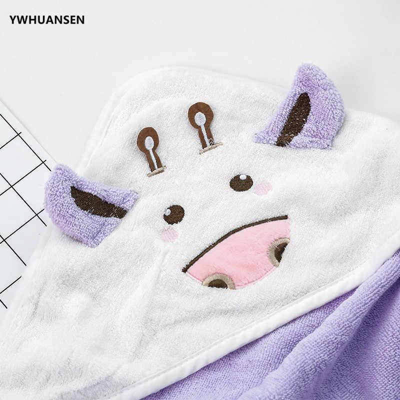 YWHUANSEN 80*80 cm algodón de dibujos animados bebé Toalla de baño pequeña vaca niños playa con capucha toalla multifunción cómodos niños poncho