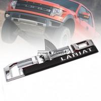 1pcs Car Styling 3D ABS Chrome Logo Car Sticker F150 LARIAT Emblem Badge Door Decal Auto